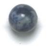Semi-Precious 8mm Round Denim Lapis